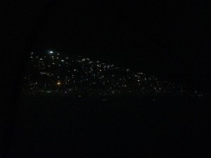 Kathmandu at night.