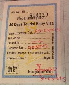30 Day visa.