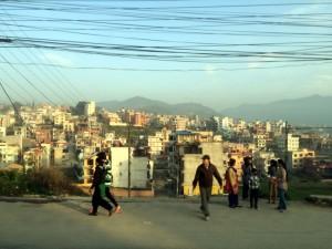 Kathmandu skyline.