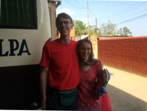 Nora and I when I arrived in Tansen.