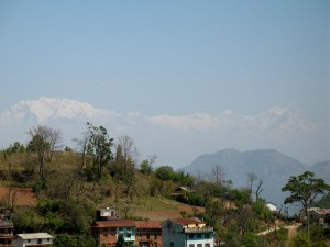 My first look at the Himalayas!