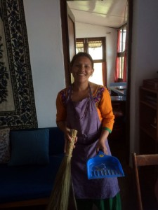 Mina, the didi, was a great cook, and very happy.
