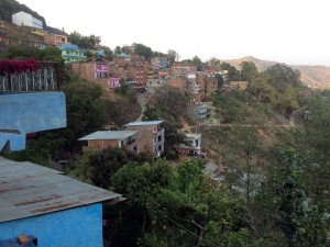 The hillsides of Tansen are filled with colorfully painted houses, and they all have a view!