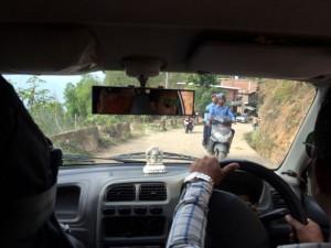 Driving the Nepali way.