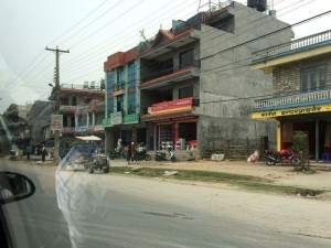 A town along the route to Pokhara.