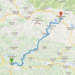Map: Tansen to Pokhara.