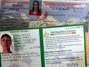 Nora's ACAP permit, and my TIMS card.