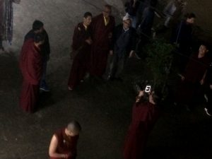 Tibetan monks at the New Years Eve celebration.