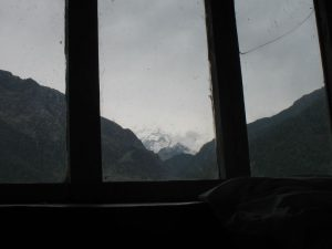 The mountain view from our room.