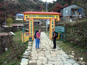 Arriving at Ghorepani.