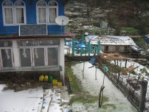 Our guesthouses during the downpour at Ghorepani.