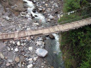 The old suspension bridge.