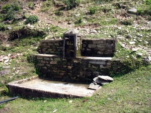 Water is sacred to them, and precious, so they often build little shrines at water sources.