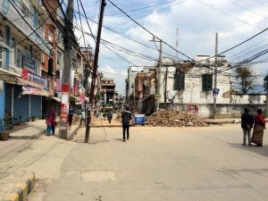 In less than 24 hours people had begun to clean debris from streets.