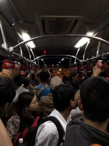 The airport shuttle in Guangzhou.