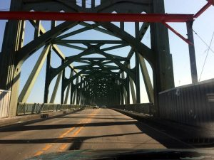 The McCullough Bridge is a welcomed sight.
